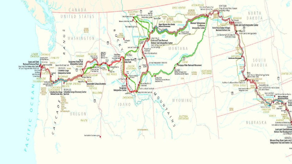Lewis And Clark Maps Maps   Lewis & Clark National Historic Trail (U.S. National Park  Lewis And Clark Maps