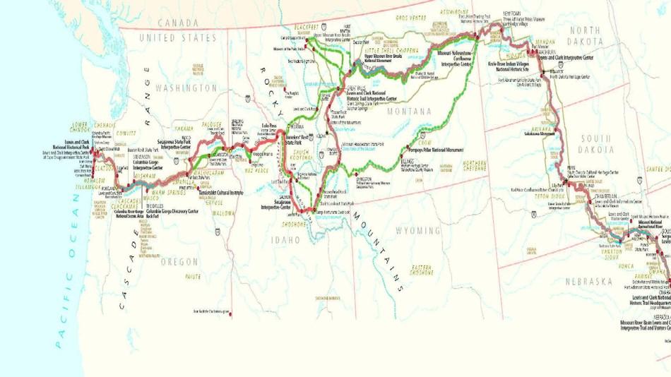 Clark Colorado Map.Maps Lewis Clark National Historic Trail U S National Park