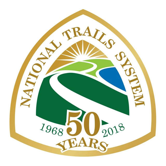 Logo for the National Trails System 50th anniversary