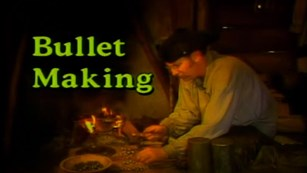 Photo of living history video with the title Bullet Making featuring man in period clothing