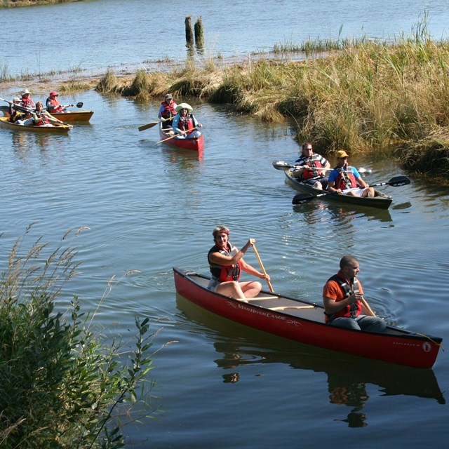 Visitors paddling on Lewis & Clark river
