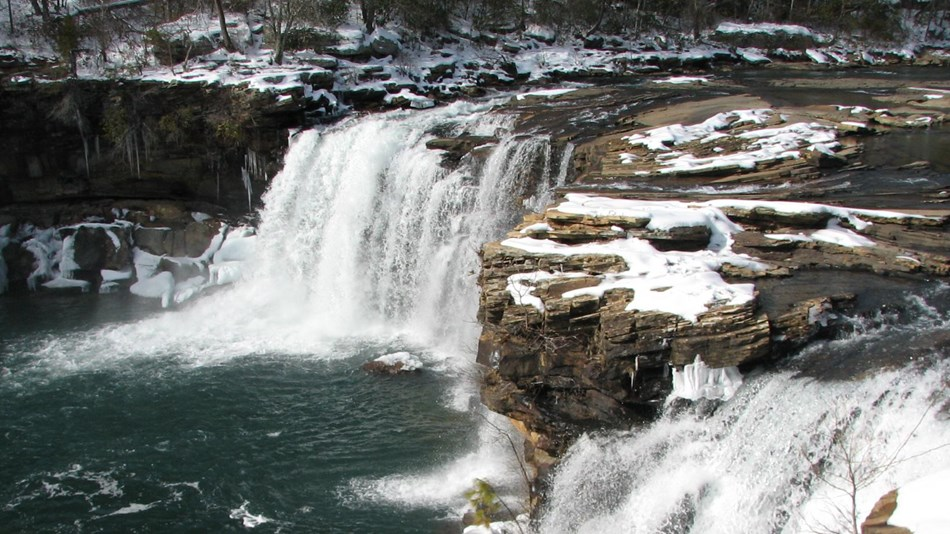 Little River Falls in the winter