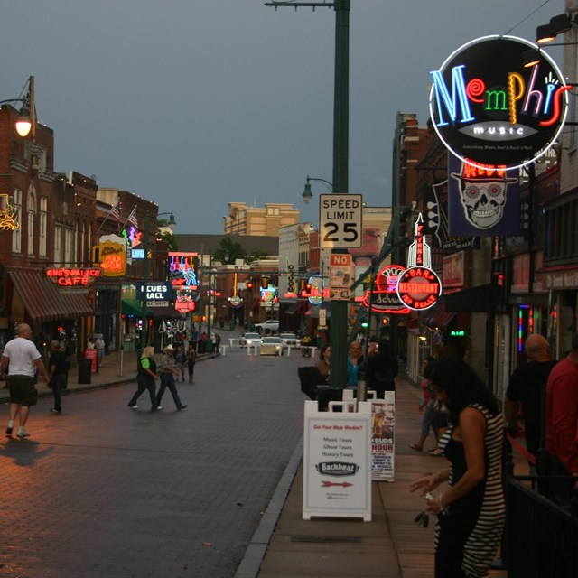 Looking east on Beale Street, Memphis Tennessee