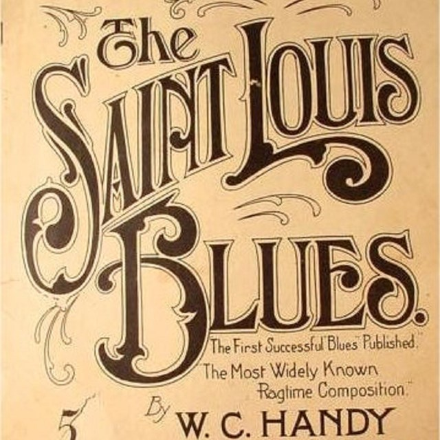 Sheet music for the St. Louis Blues by W.C. Handy