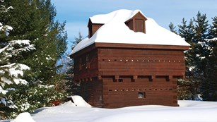 Building in snow