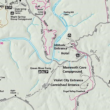 Map of Mammoth Cave National Park