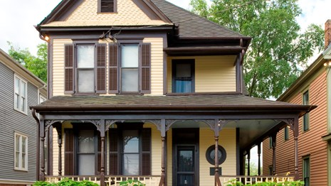The exterior view of the Birth Home of Martin Luther King, Jr.