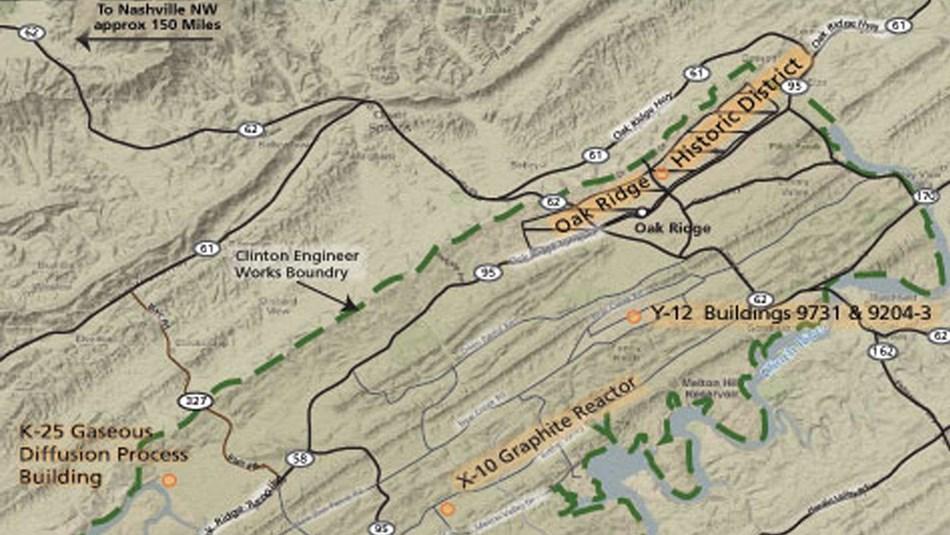 Oak Ridge Nc Map.Manhattan Project National Historical Park U S National Park Service