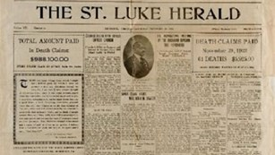 The front page of the St. Luke Herald from December 30th, 1922