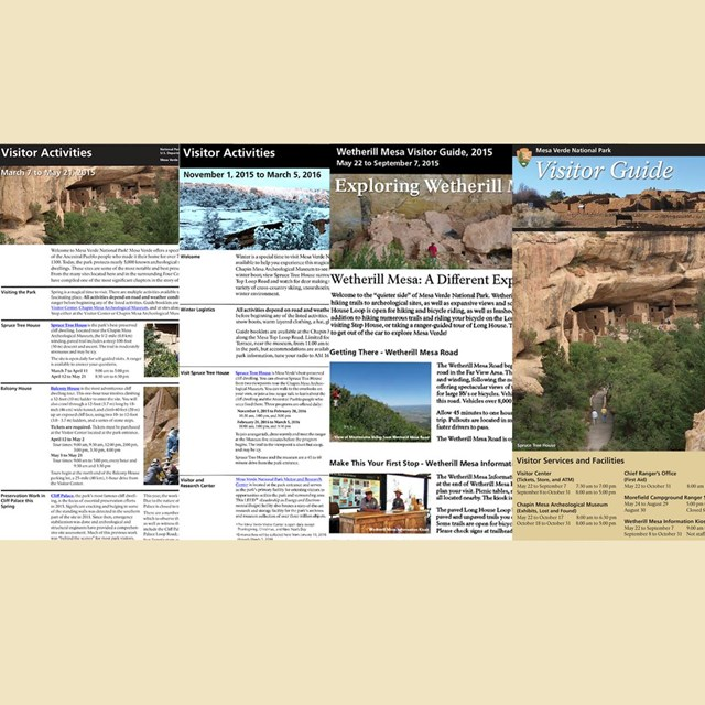A selection of visitor guides side-by-side