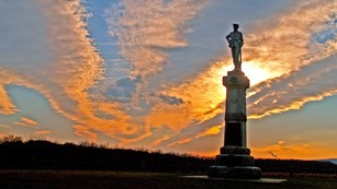 14th New Jersey Monument at sunset