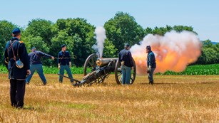 Federal Artillery Firing a Cannon