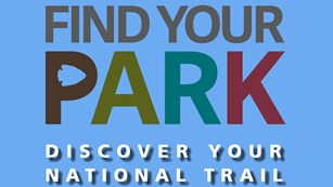 Graphic featuring 'Find Your Park' with text