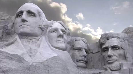 Image of Mount Rushmore created from digital scan data.