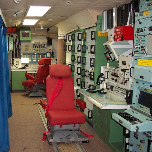 Interior of the launch control facility.