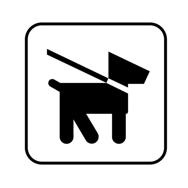 symbol of dog on leash