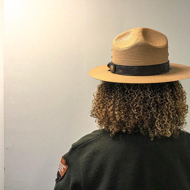 Back of ranger head and hat