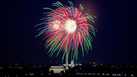Fireworks above the National Mall