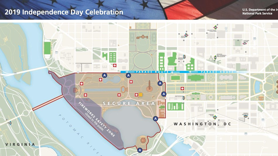 Washington Dc Fourth Of July Celebration Us National Park Service - Washington-dc-on-a-map-of-the-us