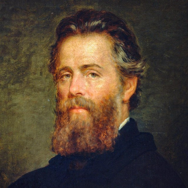 Herman Melville, 1870. Oil painting by Joseph Oriel Eaton