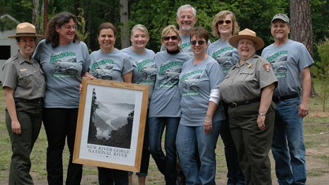 friends group doing trail work