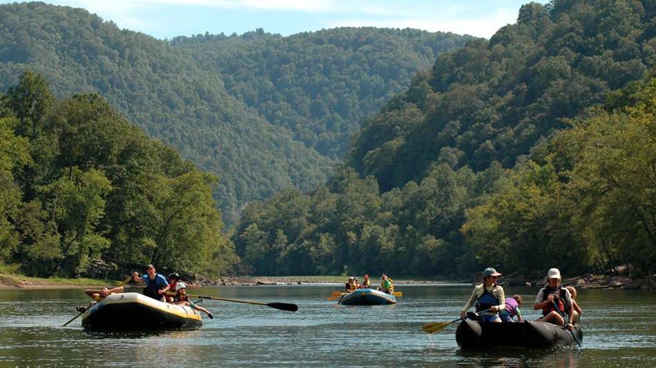 boaters on the river