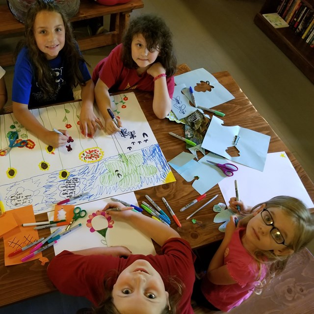 girl scouts drawing posters