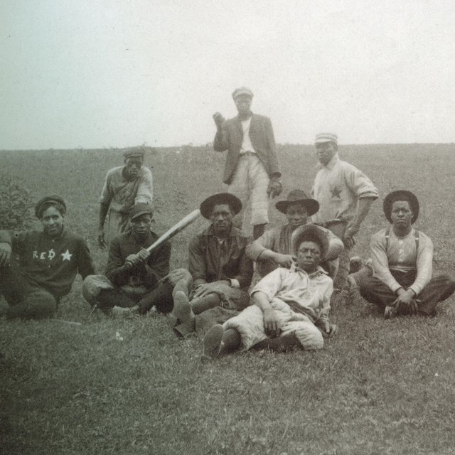 black baseball team