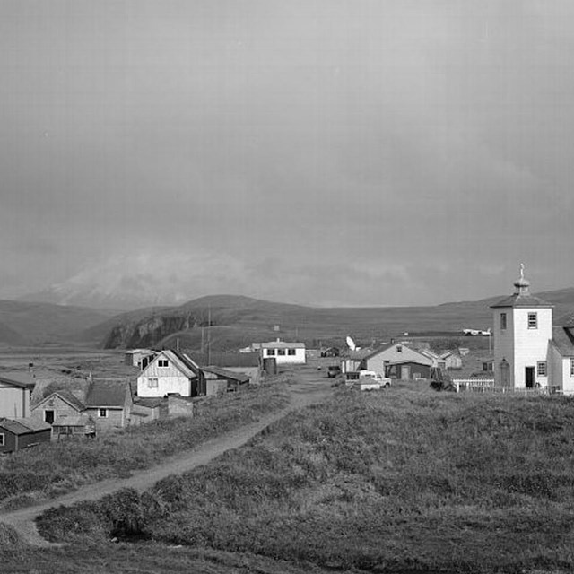Aleutian cultures preserved in a 4,000 year old village