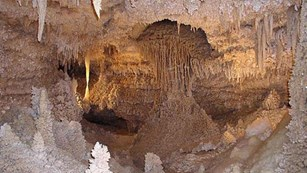 intricate cave features