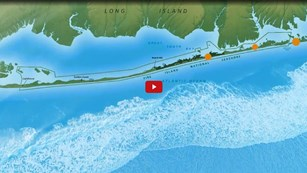 Screenshot from a video of a map of Fire Island