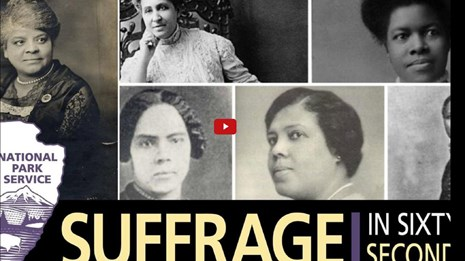 Video screenshot of a collage of Black women and a partial NPS arrowhead and video title