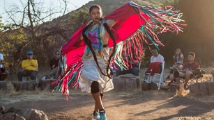 Native American fancy shawl dancing