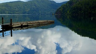 Clouds reflecting upon Lake Crescent.
