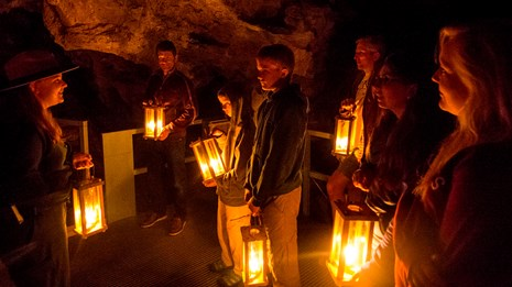 Tour group on the Candlelight Cave Tour