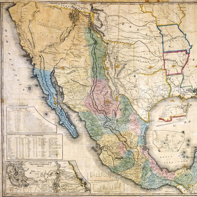 1847 map of the United States of Mexico