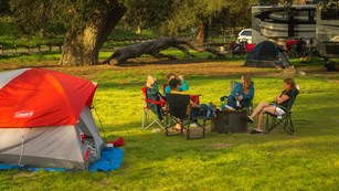 Detailed information about the Pinnacles Campground.