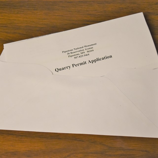 A quarry permit and envelope