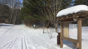 Cross country ski trailhead in Munising