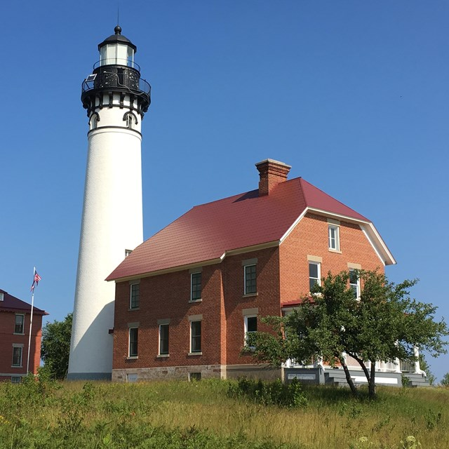 Au Sable Lighthouse and keepers quarters
