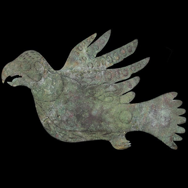 copper bird effigy