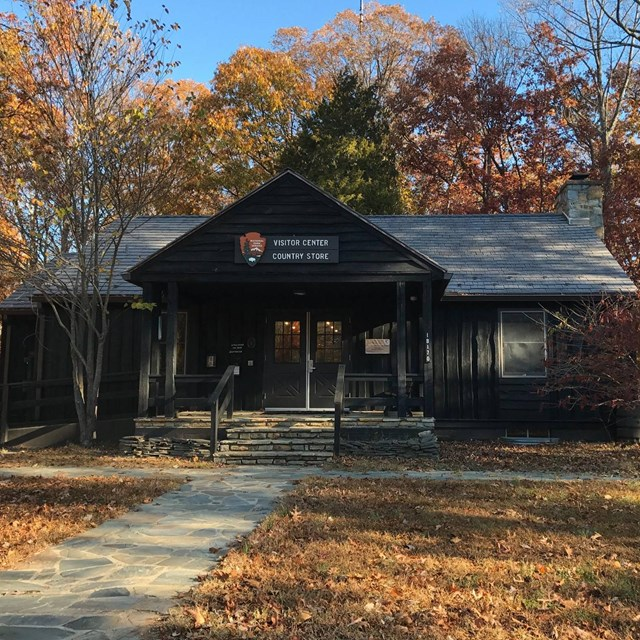 Visitor Center in fall