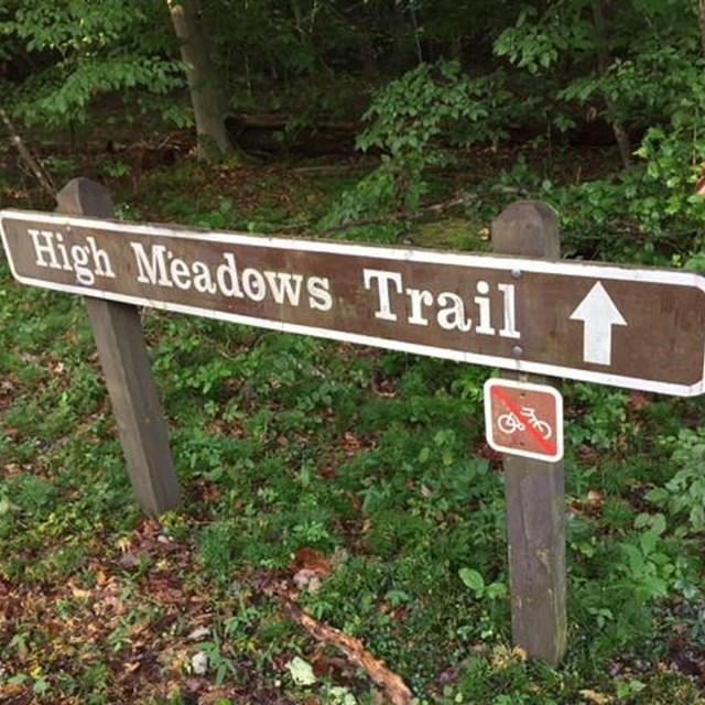 High Meadows Trail sign