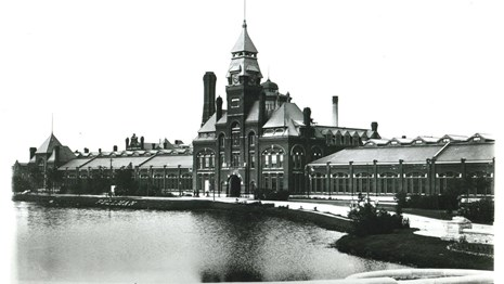 Classic view of the Administration Building with
