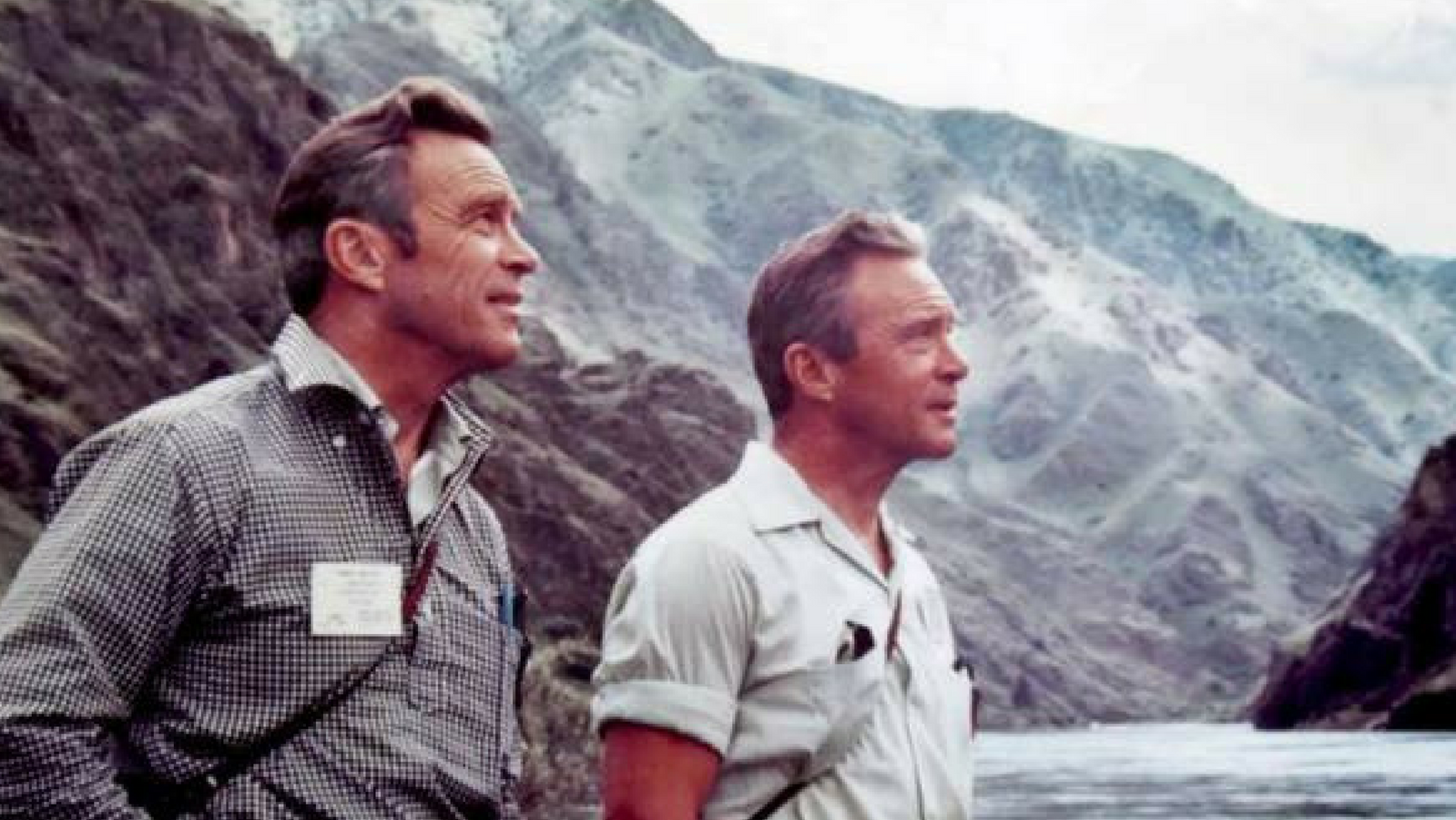John and Frank Craighead, are shown in Hells Canyon in 1970.