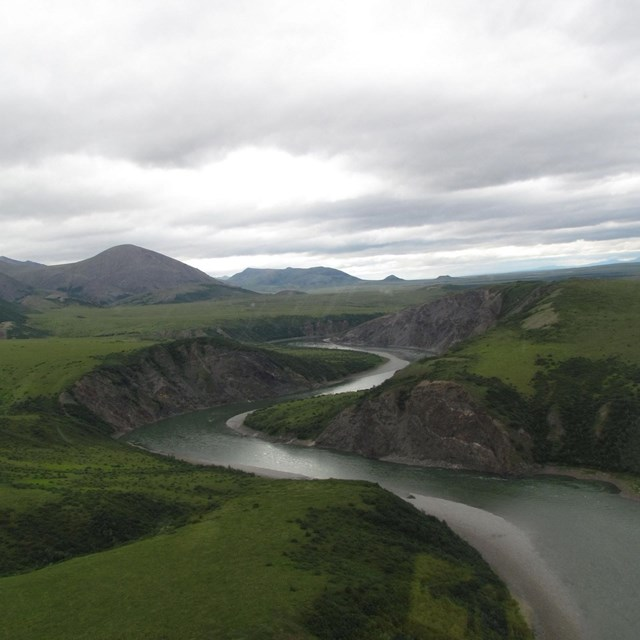 Sisiak Creek, north of the Noatak River and south of the Kugururok River,