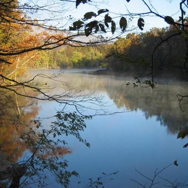 Calm waters of the Ozark River