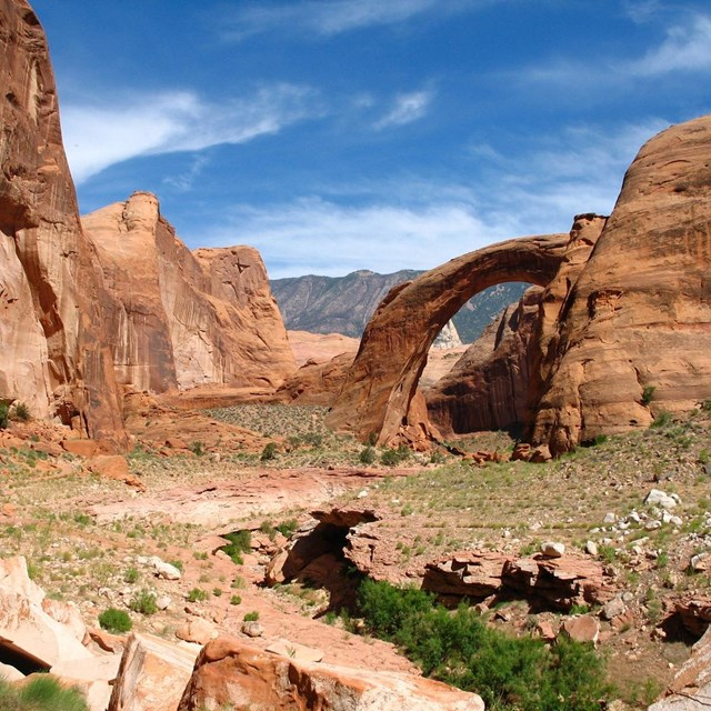 Rainbow Bridge With Navajo Mountain