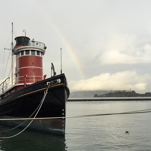 Hercules, Alcatraz and a rainbow