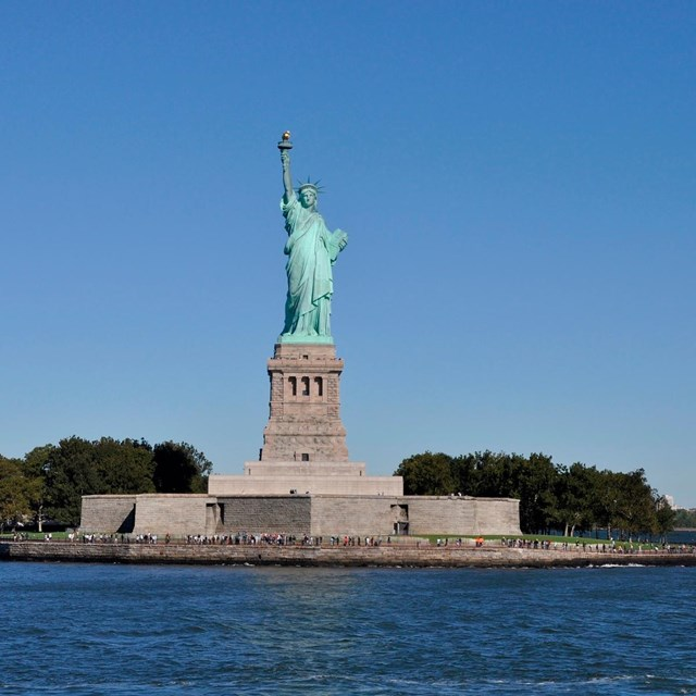 The Statue of Liberty on Liberty Island